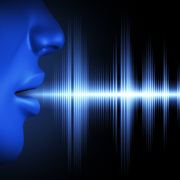photo of waveform coming out of persons mouth